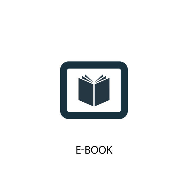 e-Book icon. Simple element illustration e-Book icon. Simple element illustration. e-Book symbol design from eLearning collection. Can be used in web and mobile. e reader stock illustrations