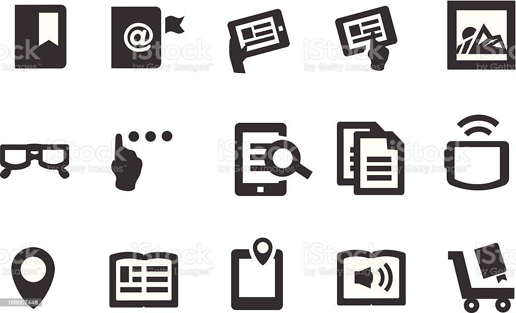 E-Book Icons royalty-free stock vector art
