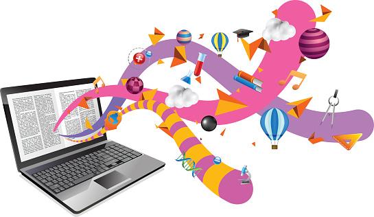 Ebook on laptop
