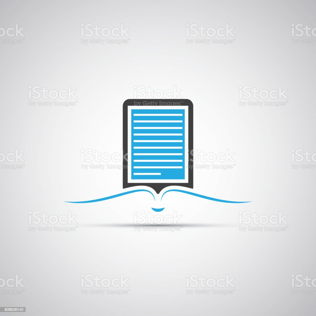 Ebook Reader Icon Design Stock Illustration Download Image