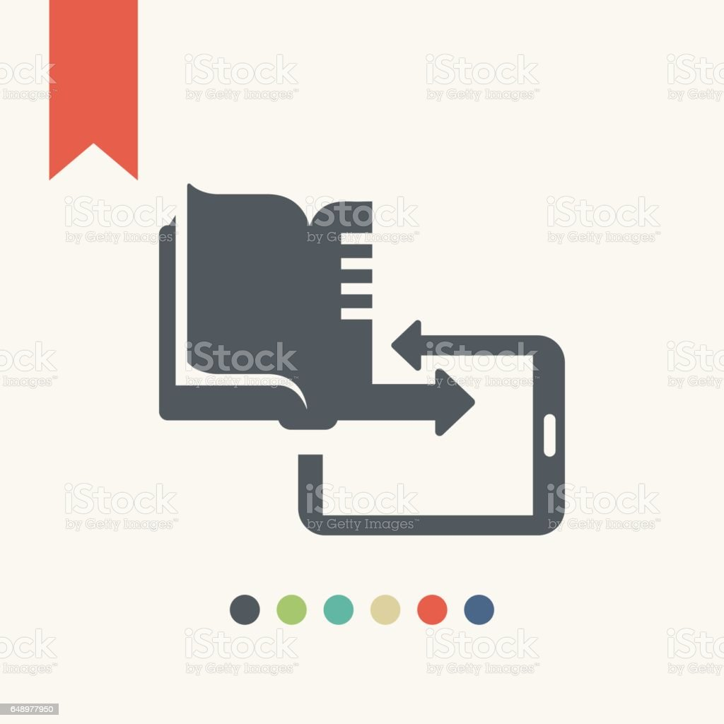 E-books icon vector art illustration