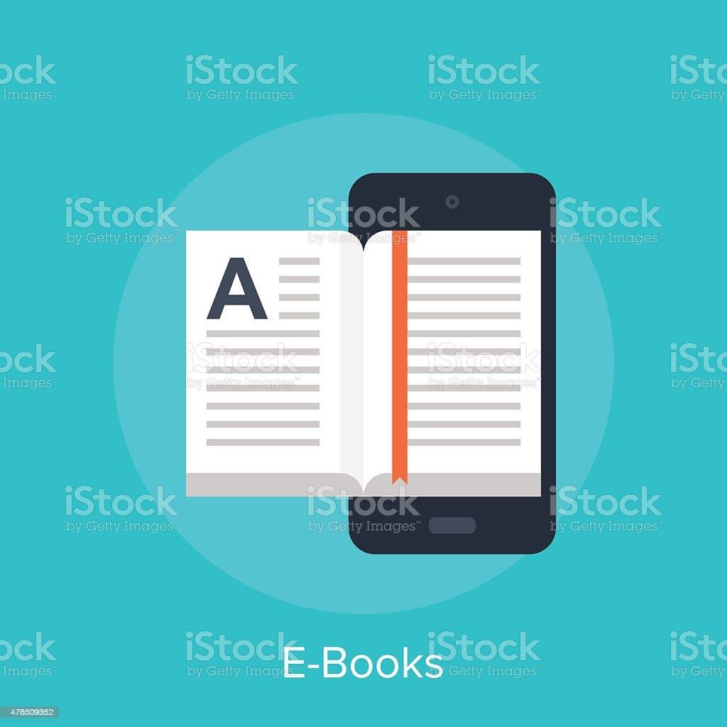 E-Books vector art illustration