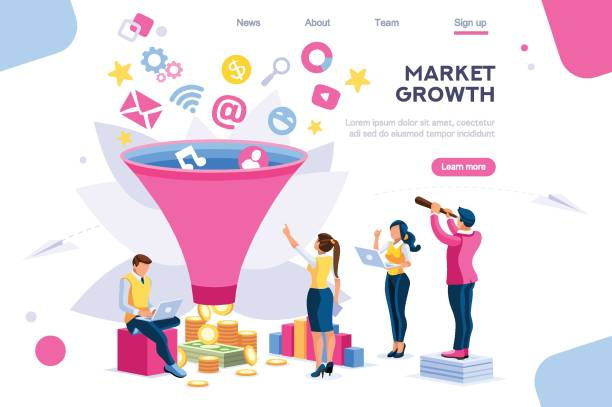 E-Business Buyer Digital Generation E-business buyer, market imagination growth focus filter. Digital generation. Elements for web banner, infographics, hero images. Flat isometric vector illustration isolated on white background origins stock illustrations