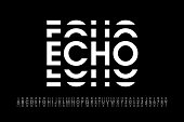 istock Echo style modern font 1082421922