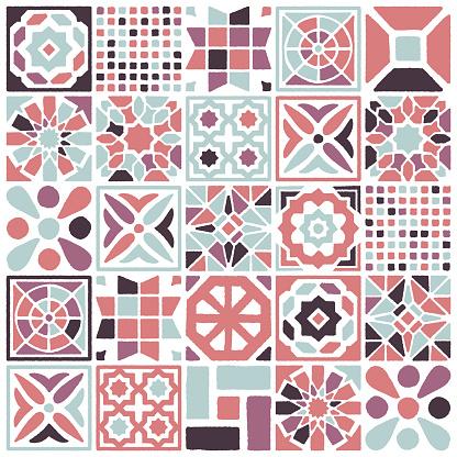 Eclectic Floor Tile Seamless Pattern Design