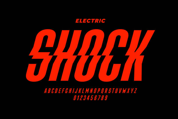 Eclectric shock style font design