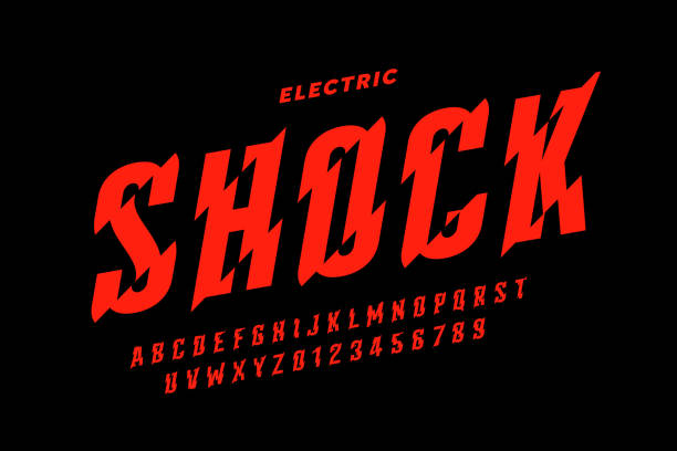 Eclectric shock style font