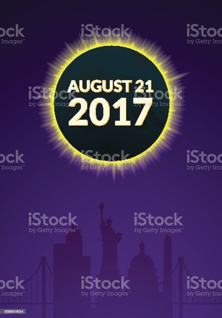 Eclipce vector illustration vector art illustration