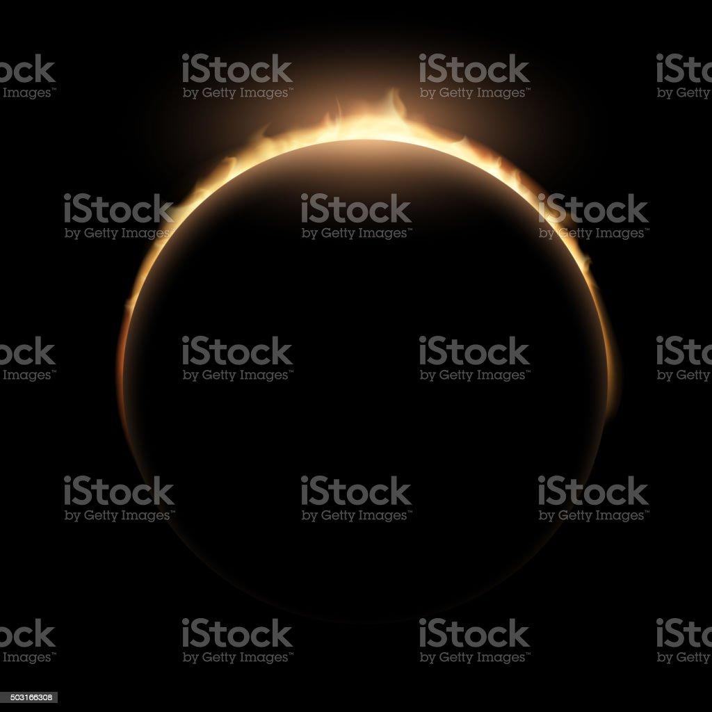 eclipse.  Stock illustration. vector art illustration