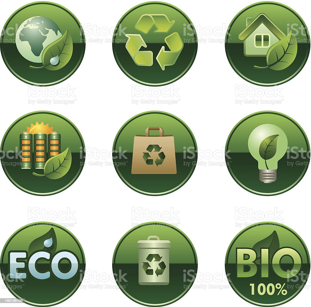 eco and bio buttons set royalty-free eco and bio buttons set stock vector art & more images of abstract