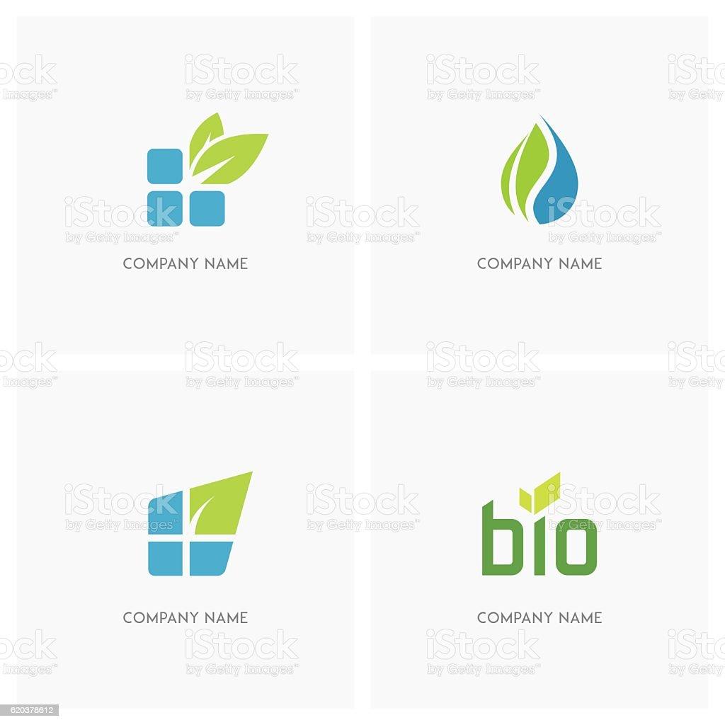 Eco and nature design element eco and nature design element - arte vetorial de stock e mais imagens de biologia royalty-free