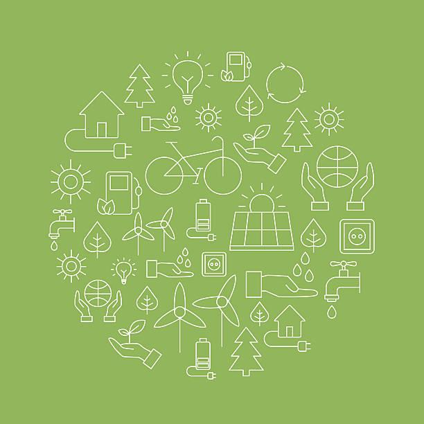 stockillustraties, clipart, cartoons en iconen met eco background - saving the planet - klimaat