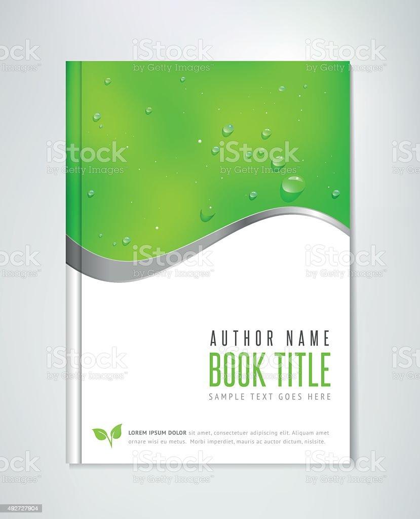 Eco Brochure - Book, Flyer or Report Template. vector art illustration