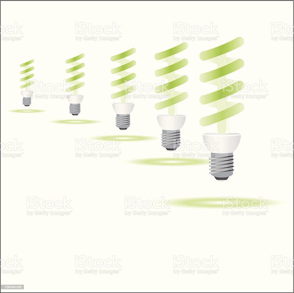 Eco bulbs royalty-free stock vector art
