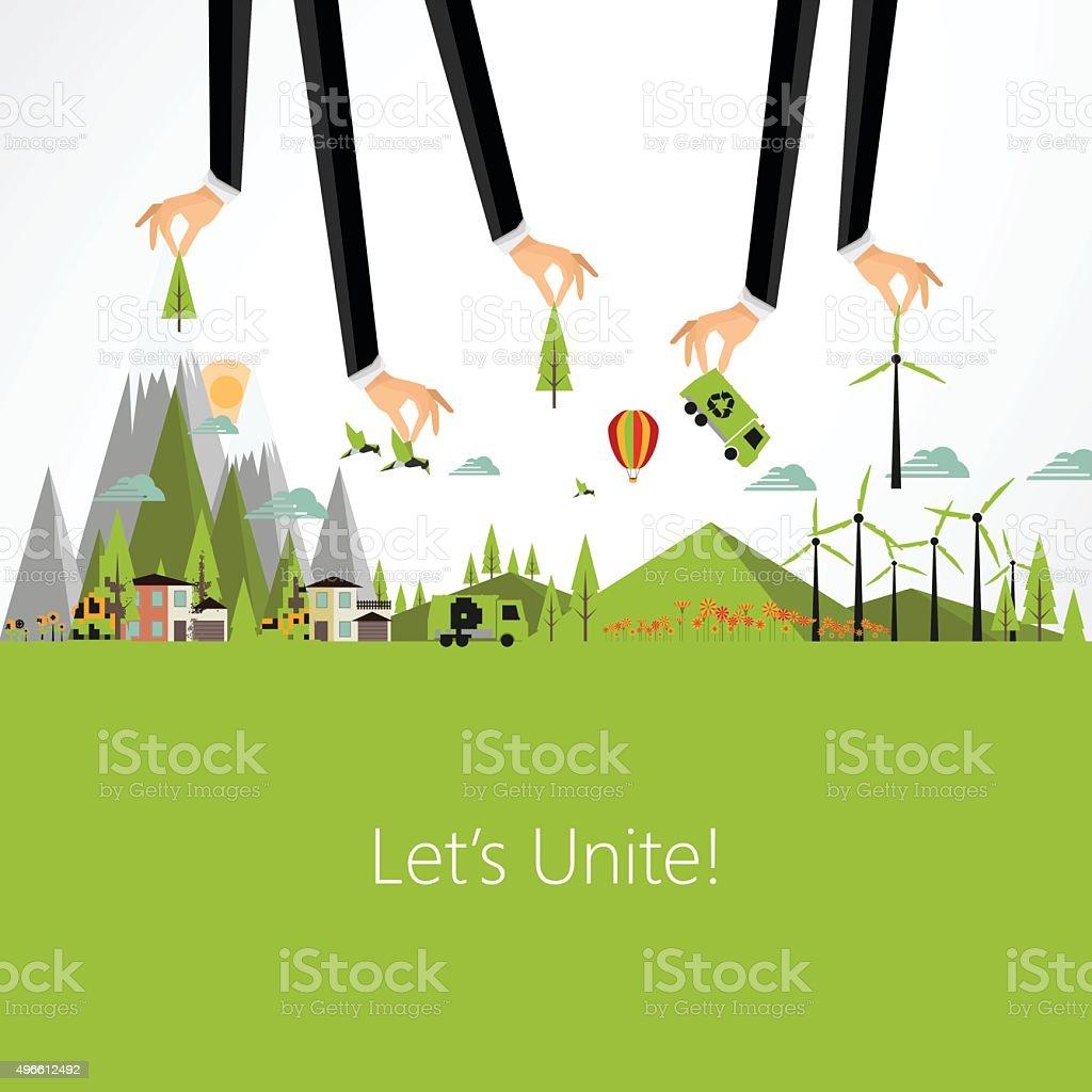 Eco Business Background Design, Vector Eps10 vector art illustration