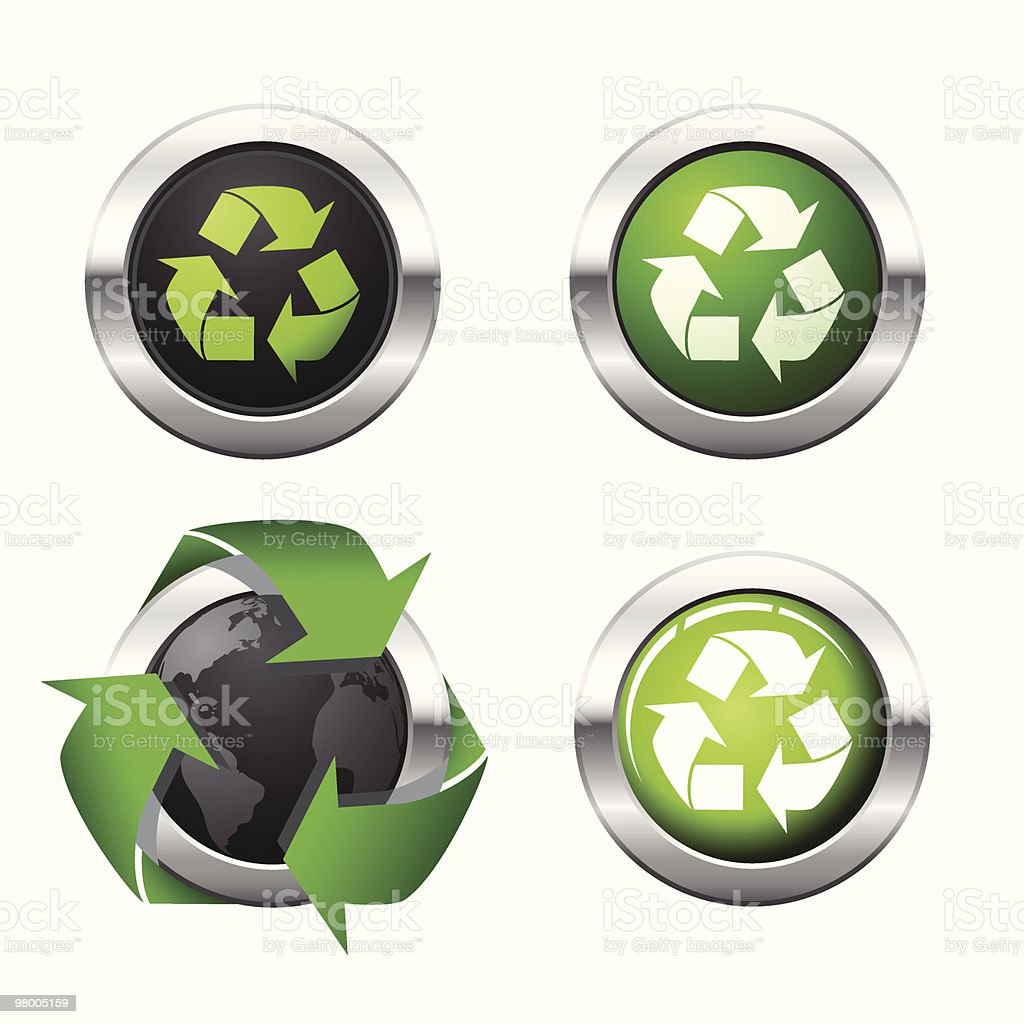 Eco buttons royalty-free eco buttons stock vector art & more images of circle
