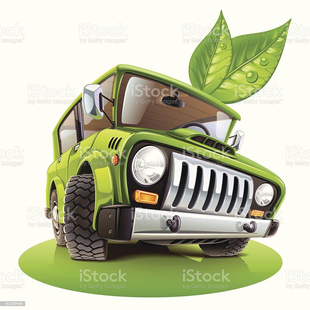 eco car royalty-free stock vector art