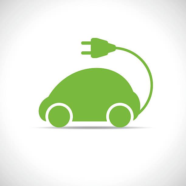 eco car Electric green car electric car stock illustrations