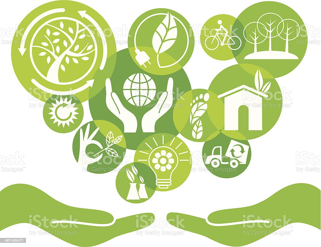 eco care 2 vector art illustration