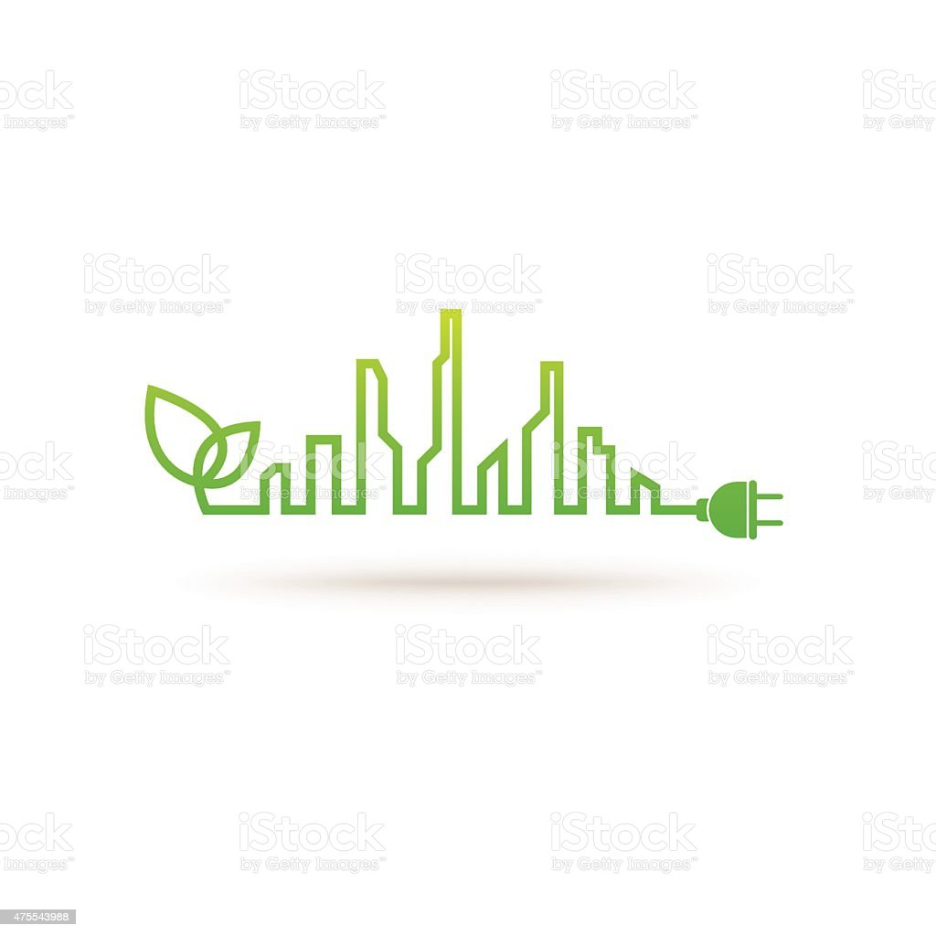 Eco city abstract concept vector art illustration