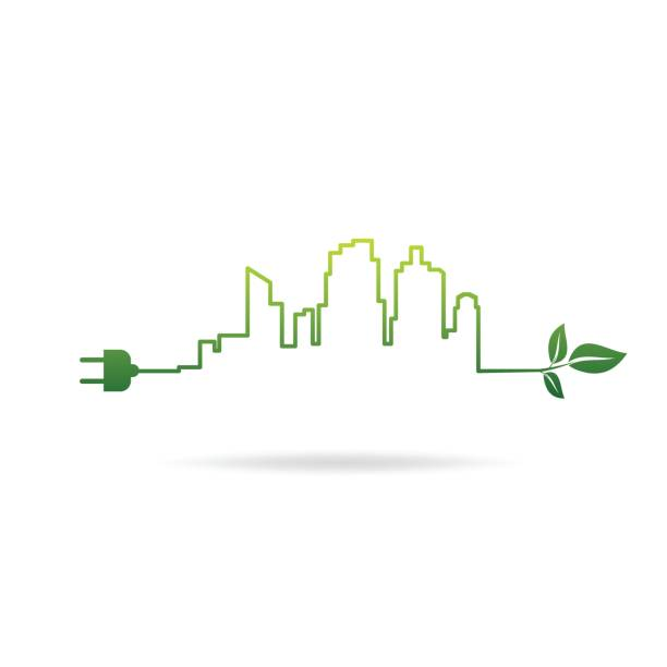 eco city energy eco city energy sustainable energy stock illustrations