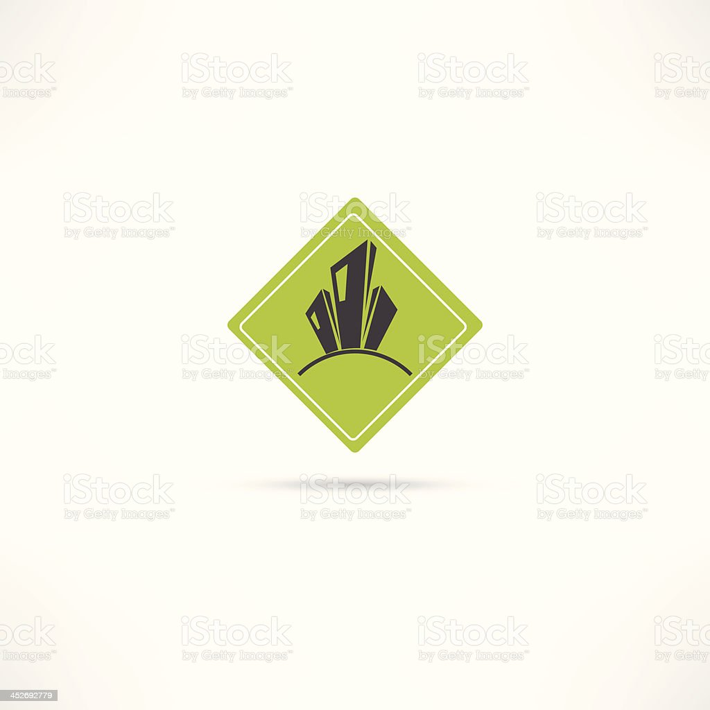 eco city icons royalty-free stock vector art