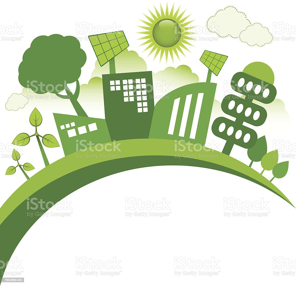 Eco City royalty-free stock vector art