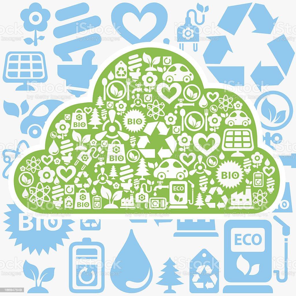 Eco cloud royalty-free stock vector art