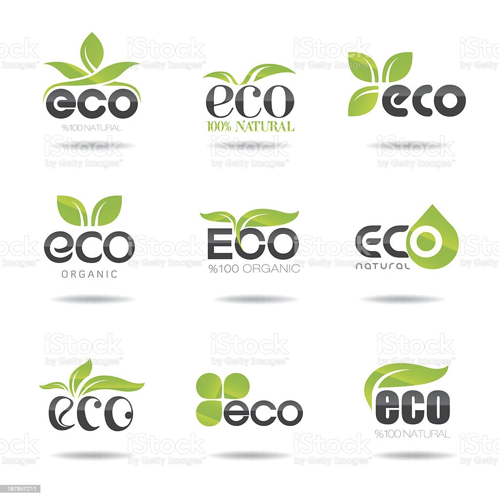Eco İcon Set royalty-free stock vector art