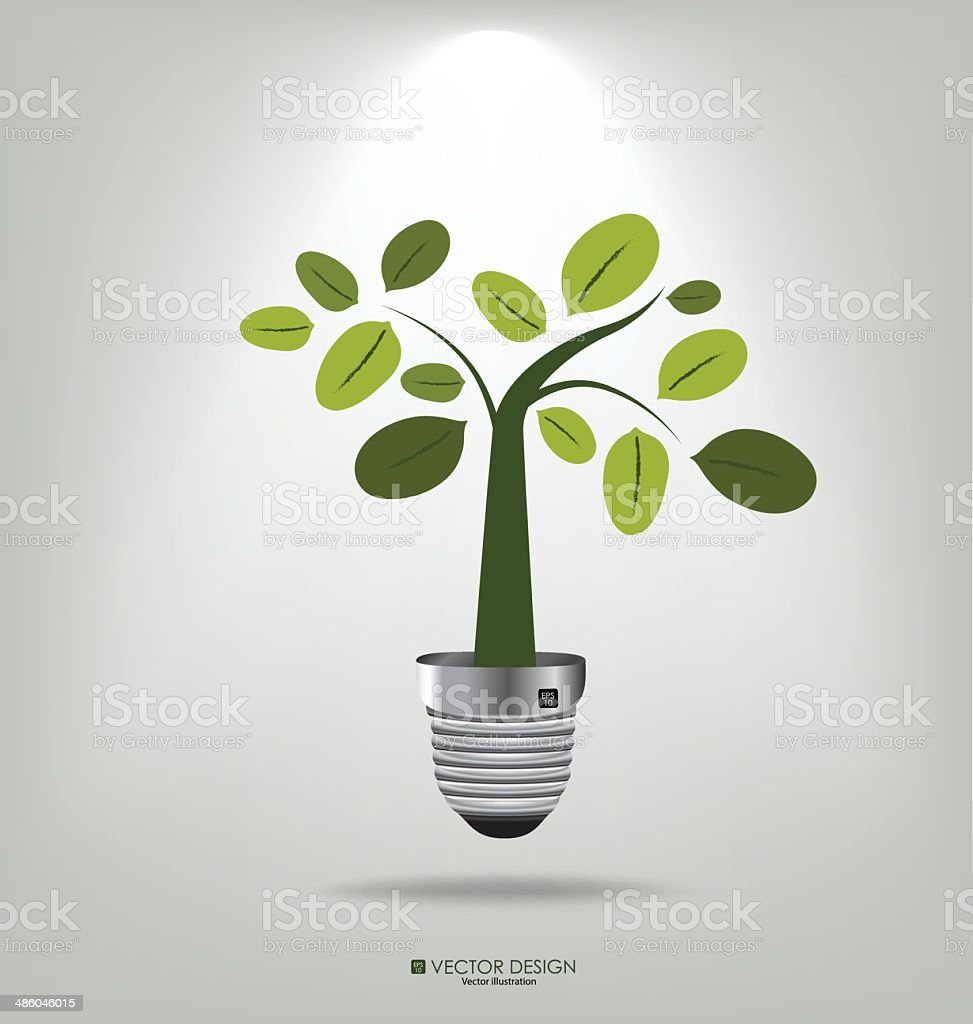 Eco concept: A light bulb with tree. Vector illustration. royalty-free stock vector art