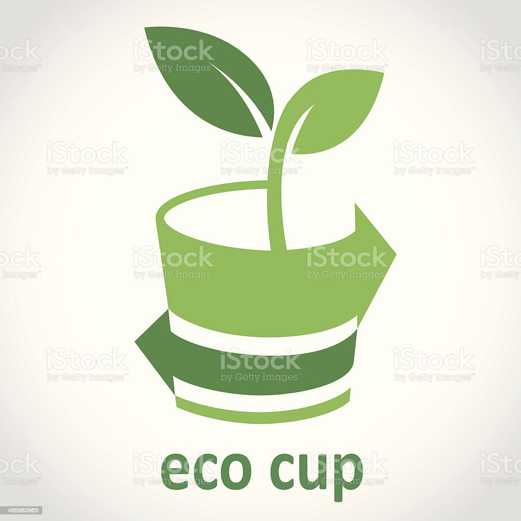 Eco Cup Logo vector art illustration