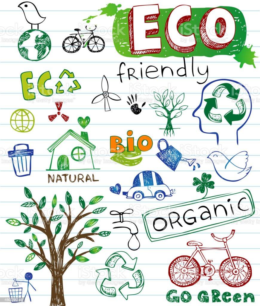 Eco Design Elements royalty-free stock vector art