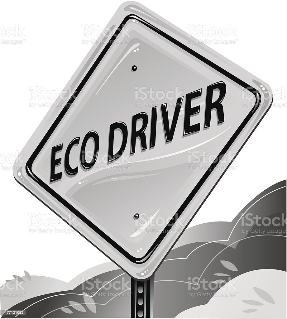 Eco Driver Sign royalty-free stock vector art