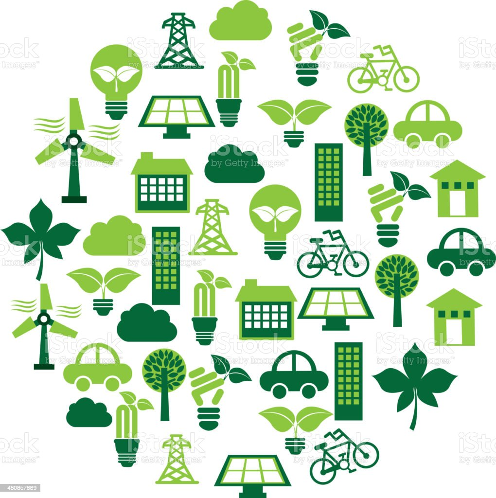Eco Energy vector art illustration
