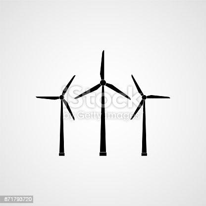 istock Eco energy. Wind turbines. Vector illustration 871793720