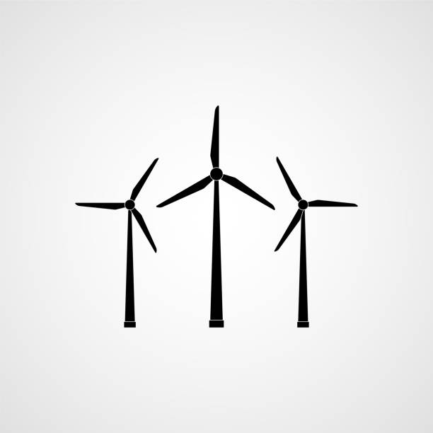 Best Wind Turbine Illustrations Royalty Free Vector