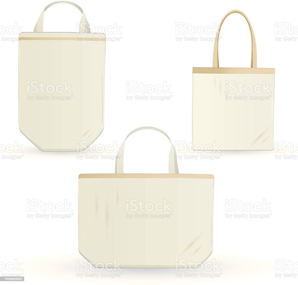 eco errands bag, design template vector art illustration