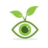 eco eye concept. eps 10 vector file