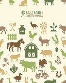 Eco Farm Seamless Pattern
