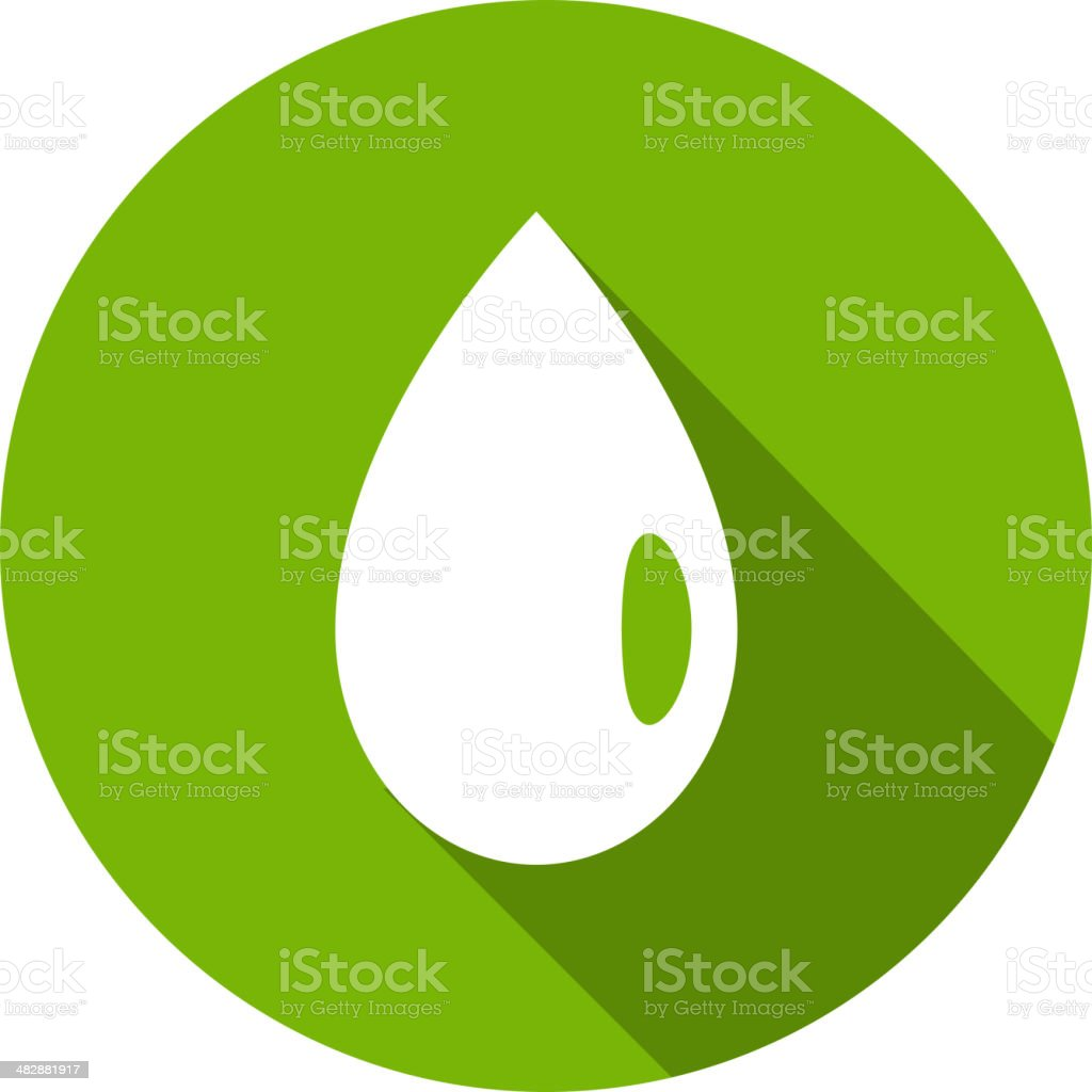 Eco Flat Icon royalty-free stock vector art