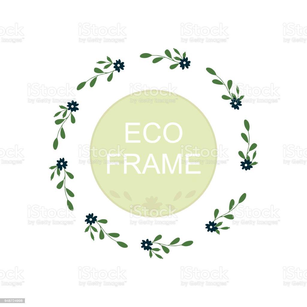 Cadre Eco Guirlande Ronde Pour La Conception De Carte Voeux Invitations Mariage