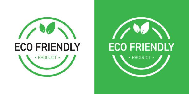illustrazioni stock, clip art, cartoni animati e icone di tendenza di eco friendly badge design - organic food