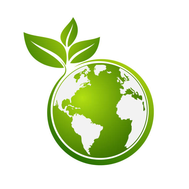 Eco friendly concept, Green city save the world, vector art illustration