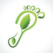 Eco Friendly Footprint Illustration