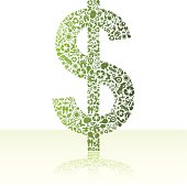 Eco friendly green dollar