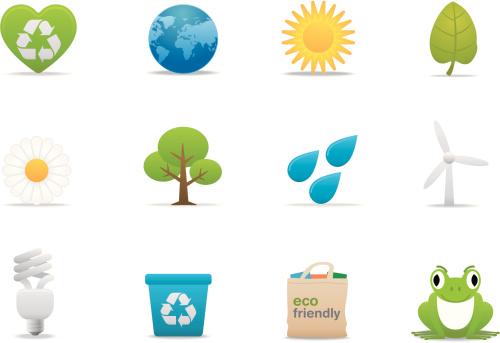 Eco Friendly icons | Premium Matte series