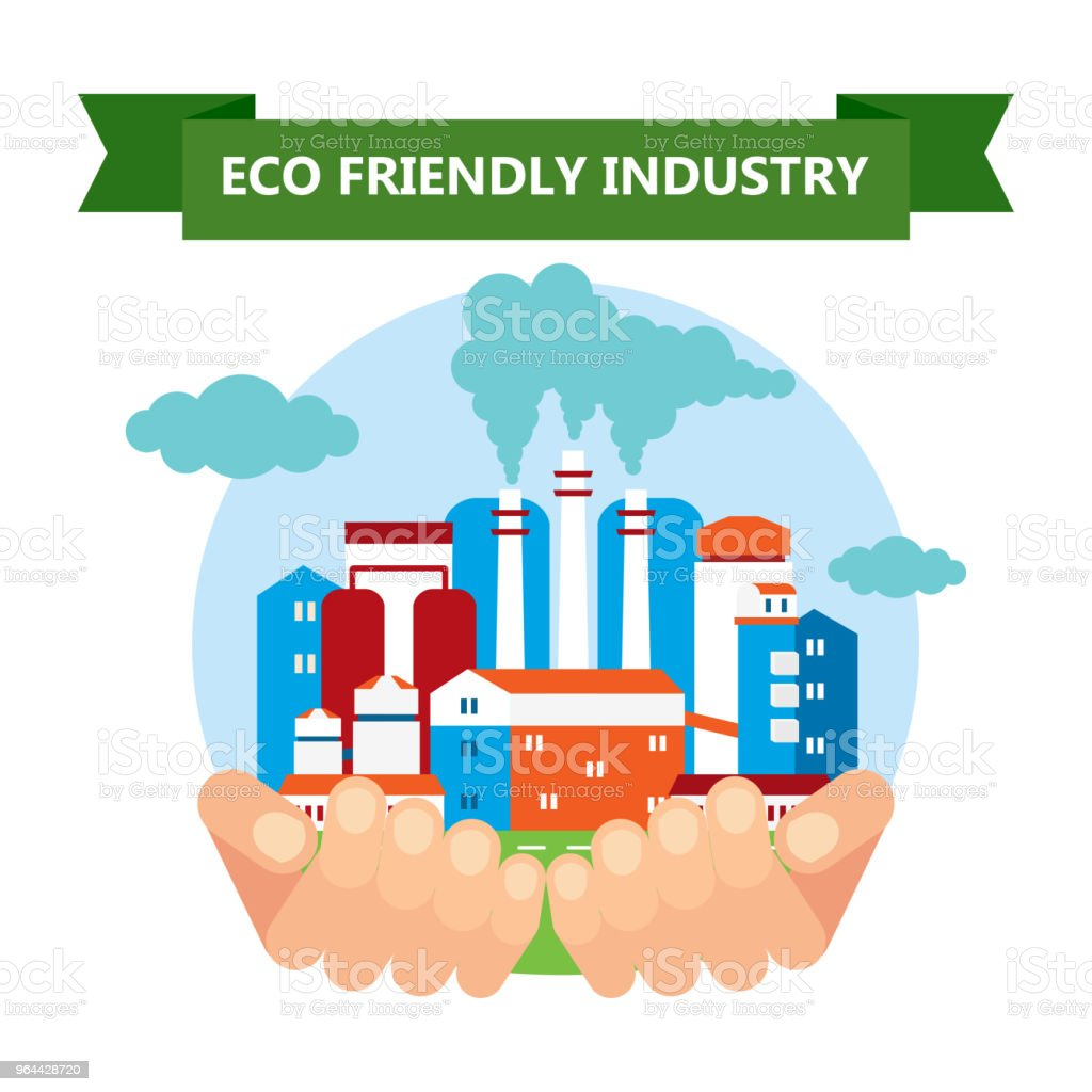 eco friendly industry - Royalty-free Banner - Sign stock vector