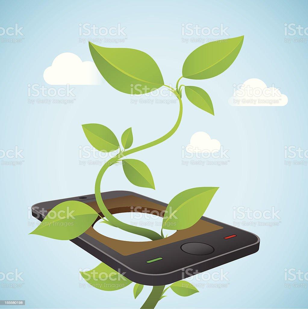 Eco Friendly Technology Smart Phone royalty-free stock vector art