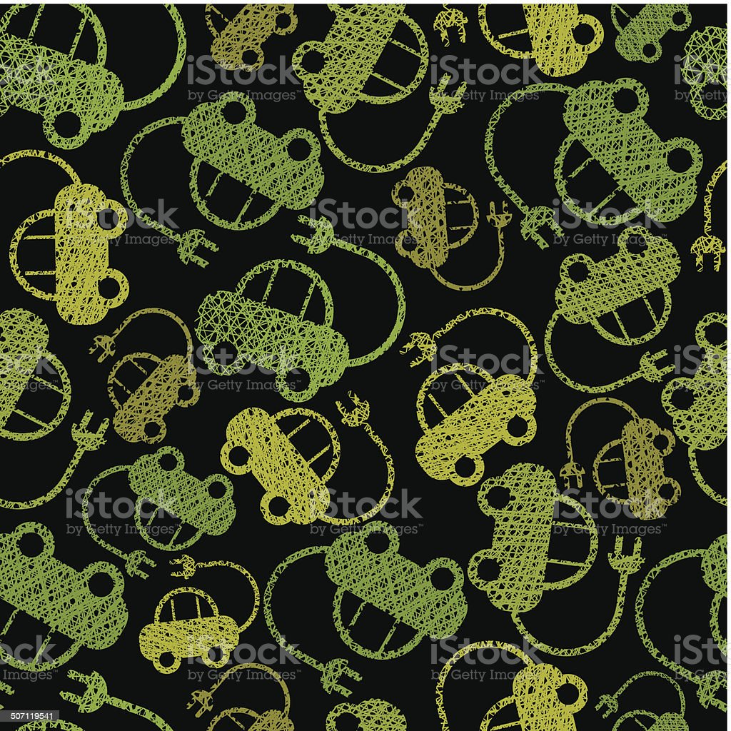 Eco friendly transport seamless background, cars pattern royalty-free eco friendly transport seamless background cars pattern stock vector art & more images of abstract