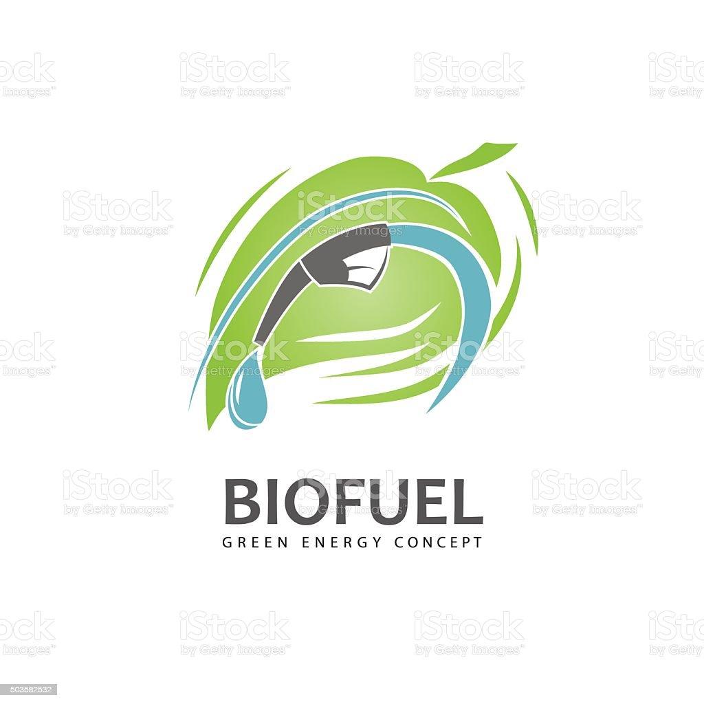 Eco fuel sign vector art illustration